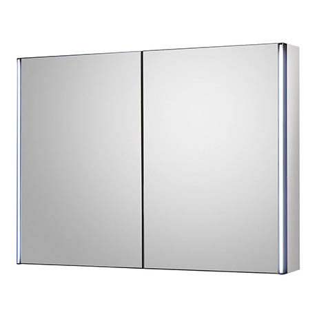 Hudson Reed Meloso 800mm LED Motion Sensor Mirror Cabinet with Shaver Socket - LQ094