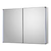 Hudson Reed Meloso 800mm LED Motion Sensor Mirror Cabinet with Shaver Socket - LQ094 profile small image view 1