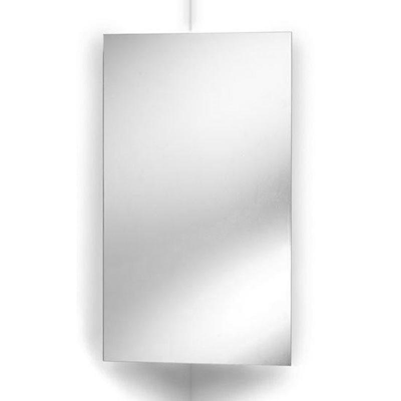 Ultra Avant Stainless Steel Corner Mirrored Cabinet - LQ301 Large Image