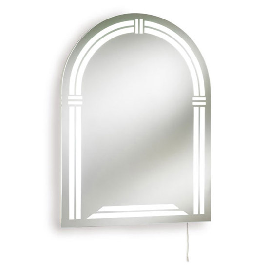 arched mirrors bathroom ultra reflex arched backlit mirror lq304 at 10122