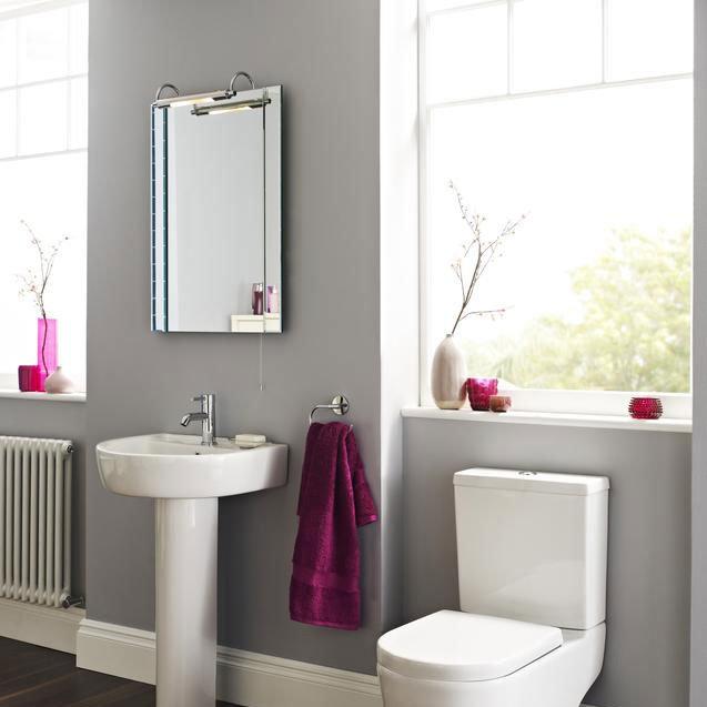 Ultra Pallas Bathroom Mirror with Light - LQ305 Profile Large Image