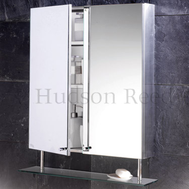 Hudson Reed Dakota Stainless Steel Double Mirror Cabinet - LQ316 Profile Large Image