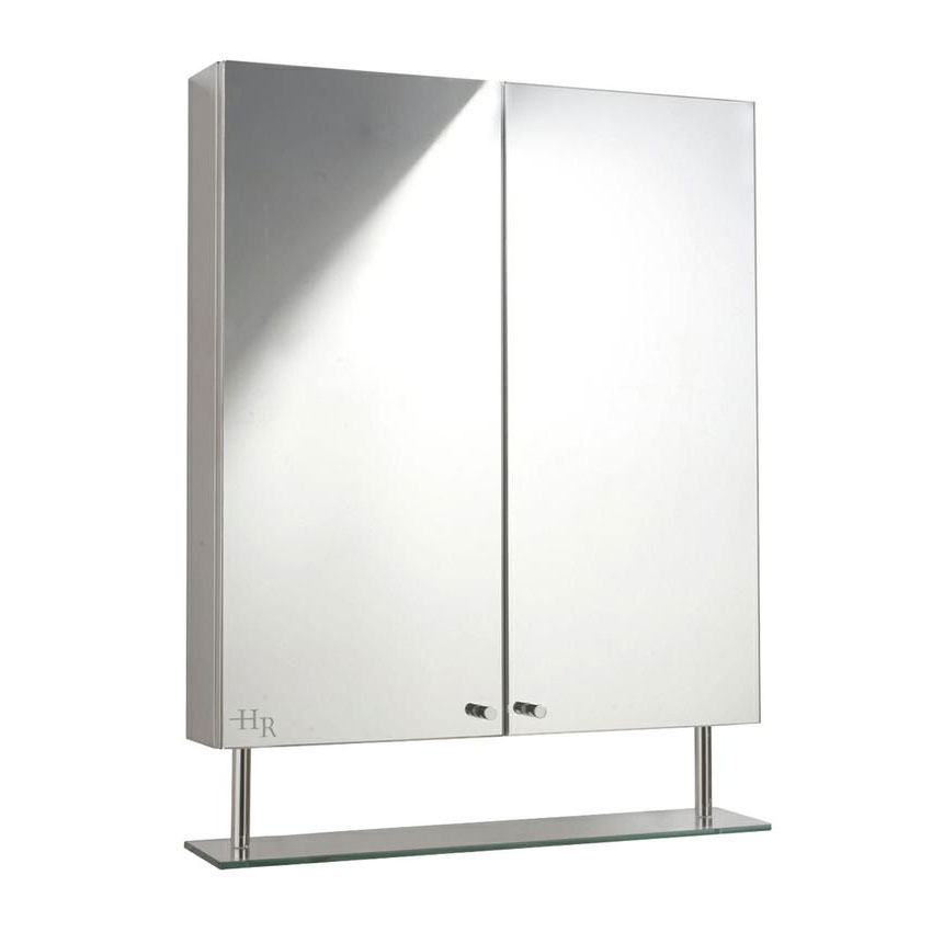 Hudson Reed Dakota Stainless Steel Double Mirror Cabinet - LQ316 Large Image