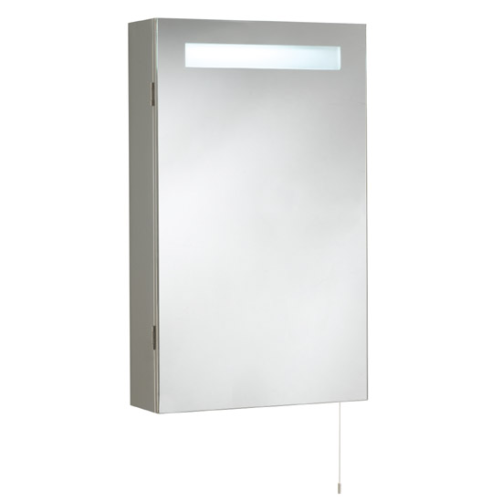 Ultra Consul Stainless Steel Bathroom Cabinet with Single Door & Light - LQ333 Large Image