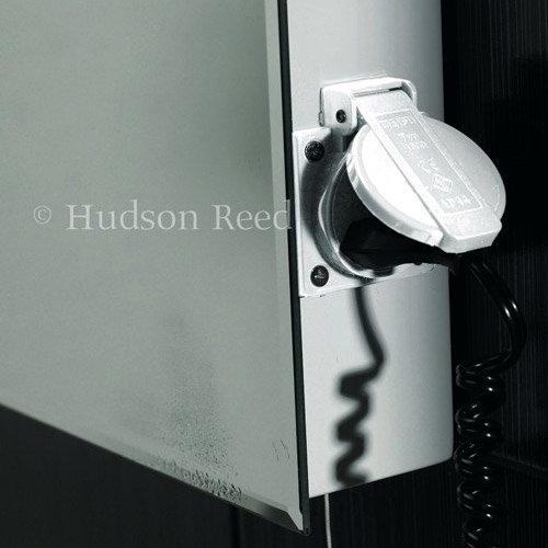 Hudson Reed Lucid LED Sensor Mirror with Shaving Socket & De-Mist Pad - LQ365 Feature Large Image