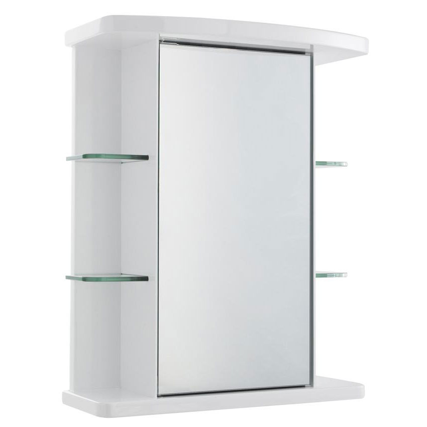 Ultra Congress Single Mirror Cabinet with Light, Shaving Socket and Digital Clock - LQ373 profile large image view 1