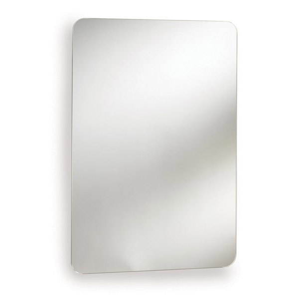 Ultra Image Stainless Steel Mirrored Cabinet with Hinged Door - LQ382 Large Image