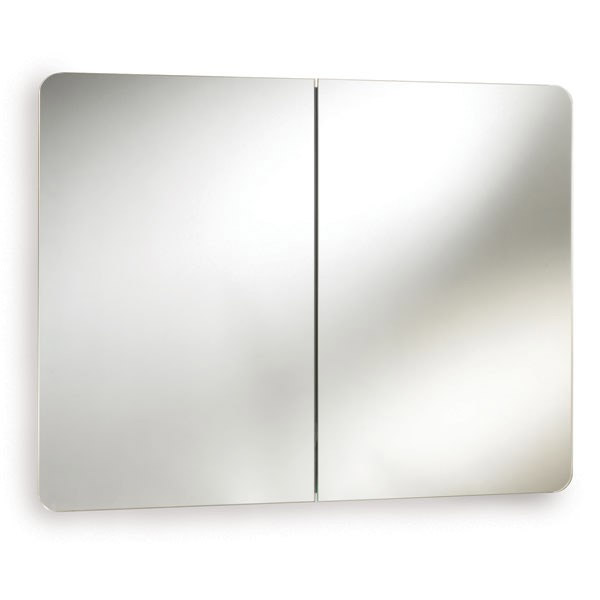 Ultra Mimic Stainless Steel Double Mirrored Cabinet with Hinged Doors - LQ383 Large Image