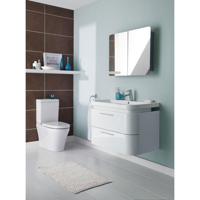 Ultra Mimic Stainless Steel Double Mirrored Cabinet with Hinged Doors - LQ383 profile large image view 3