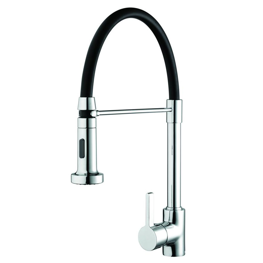 Bristan - Liquorice Monobloc Kitchen Sink Mixer with Pull Out Spray - LQR-PROSNK-C profile large image view 1