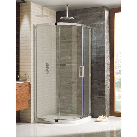 Simpsons - 900 x 900mm Elite Quadrant Single Door Shower Enclosure - LQSSC0900