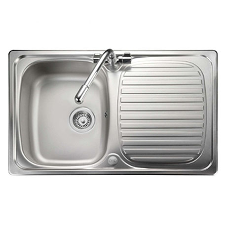 Rangemaster Compact 800 x 508mm Stainless Steel 1 Bowl Kitchen Sink - LR8001