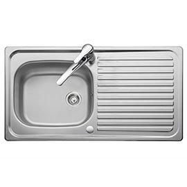 Rangemaster Linear 950 x 508mm Stainless Steel 1 Bowl Kitchen Sink - LR9501