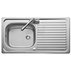 Rangemaster Linear 950 x 508mm Stainless Steel 1 Bowl Kitchen Sink - LR9501 profile small image view 1