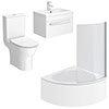 Laguna Small Shower Bath Suite profile small image view 1