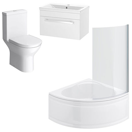 Laguna Small Shower Bath Suite