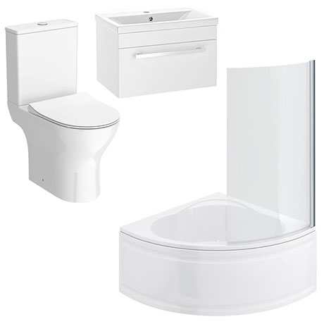 Laguna Small Shower Bath Suite Victorian Plumbing Uk
