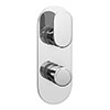 Bosa Modern Twin Concealed Thermostatic Shower Valve profile small image view 1