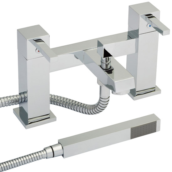 Ultra Series L Bath Shower Mixer with Shower Kit - Chrome - LTY344 Large Image