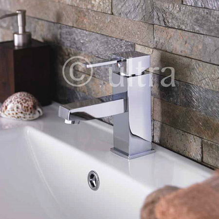 Ultra Series L Mono Basin Mixer Tap Inc. Waste - LTY345 Profile Large Image