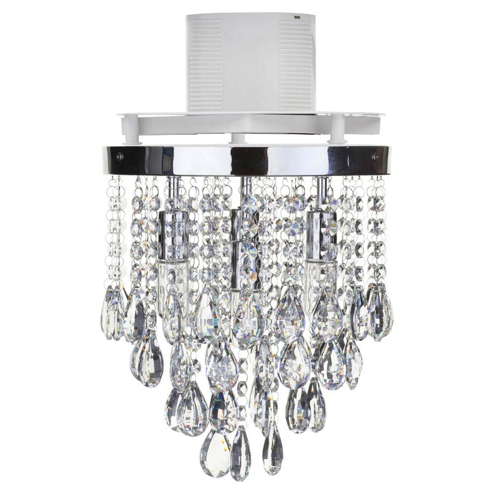 Forum LumenAir Verano 4 Light Crystal Fitting with Extractor Fan - LUM-26134-CHR profile large image view 4