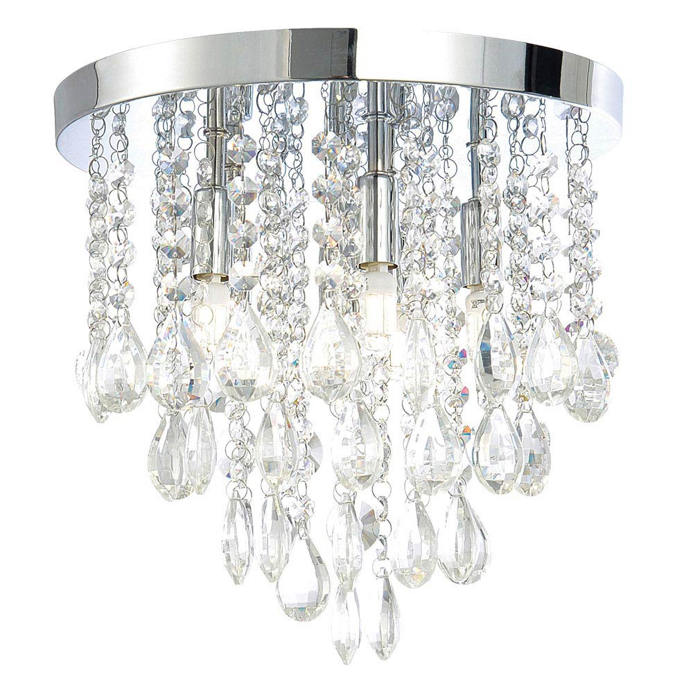 Forum LumenAir Verano 4 Light Crystal Fitting with Extractor Fan - LUM-26134-CHR Large Image