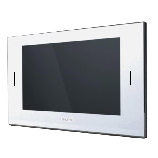 Luxurite - Waterproof LCD Televison - Pearl White Frame - Various Size Options Large Image