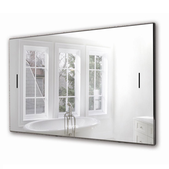 Luxurite - Waterproof LCD Televison - Silver Mirror Frame - Various Size Options Large Image