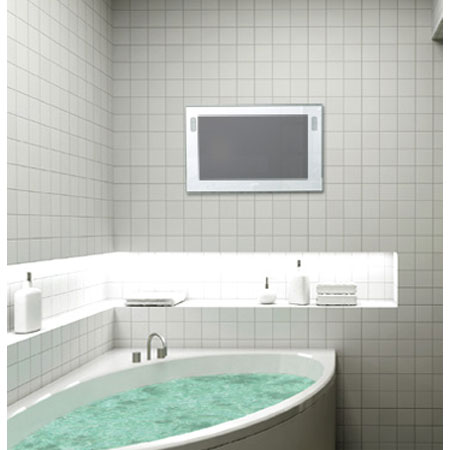 Luxurite - Waterproof LCD Television - Pearl White Frame - Various Size Options profile large image view 3