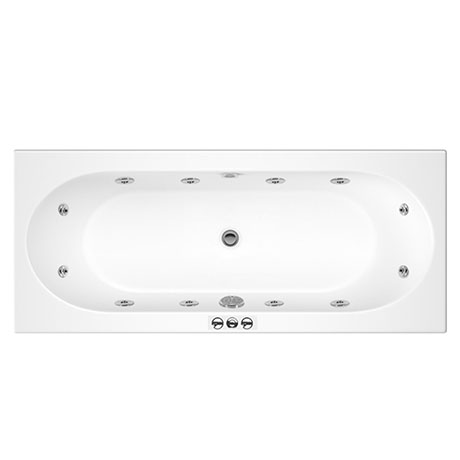 Laguna Whirlpool Spa 12 Jet Round Double Ended Bath