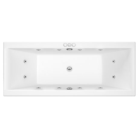 Laguna Whirlpool Spa 12 Jet Square Double Ended Bath