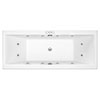 Laguna Whirlpool Spa 12 Jet Square Double Ended Bath profile small image view 1