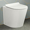 Lyon Back to Wall Toilet Pan + Soft Close Seat profile small image view 1