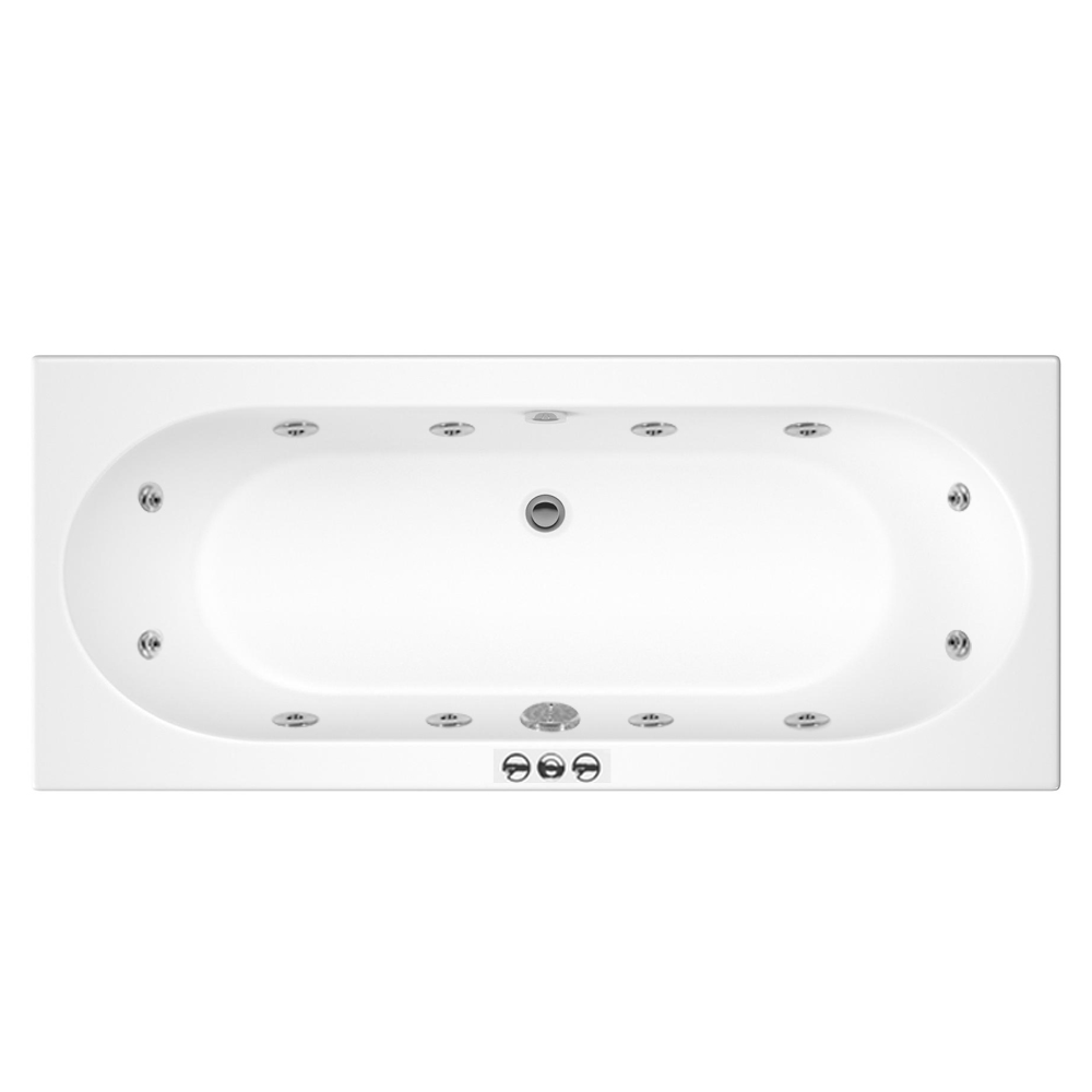 Laguna Whirlpool Spa 12 Jet Round Double Ended Bath Large Image