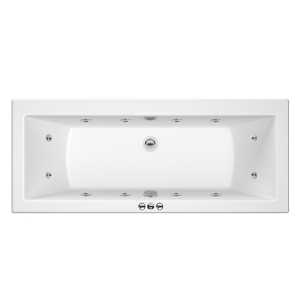 Laguna Whirlpool Spa 12 Jet Square Double Ended Bath profile large image view 1
