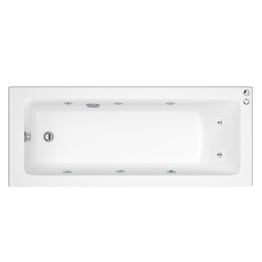 Laguna Whirlpool Spa 8 Jet Square Single Ended Bath profile large image view 1