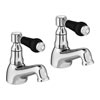 Lancaster Black Traditional Basin Taps profile small image view 1