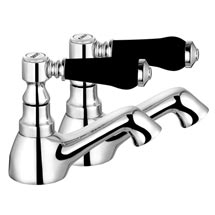Lancaster Black Traditional Basin Taps Medium Image