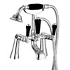 Lancaster Black Traditional Bath Shower Mixer Taps inc Shower Kit Small Image