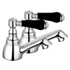 Lancaster Black Traditional Bath Taps Small Image