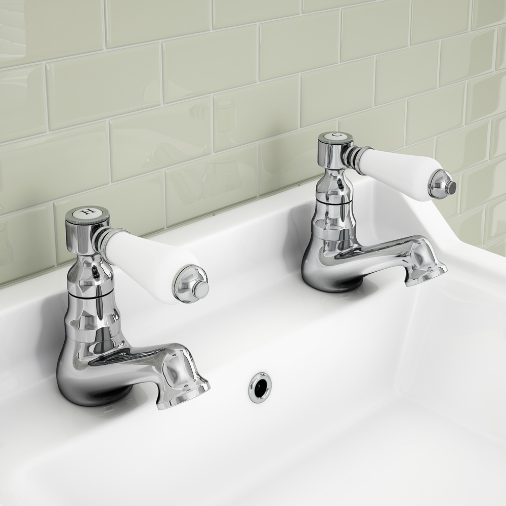Lancaster Traditional Basin Taps  Profile Large Image