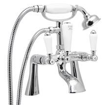 Lancaster Traditional Bath Shower Mixer with Shower Kit Medium Image