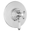 Lancaster Traditional Round Concealed Dual Thermostatic Shower Valve profile small image view 1