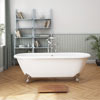 Landon 1680 x 750mm Double Ended Roll Top Cast Iron Bath with Chrome Feet profile small image view 1