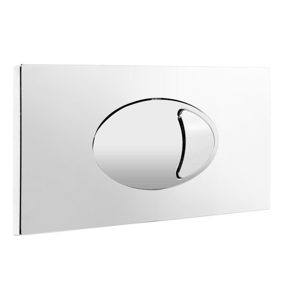 Large Chrome Push Button Plate Large Image