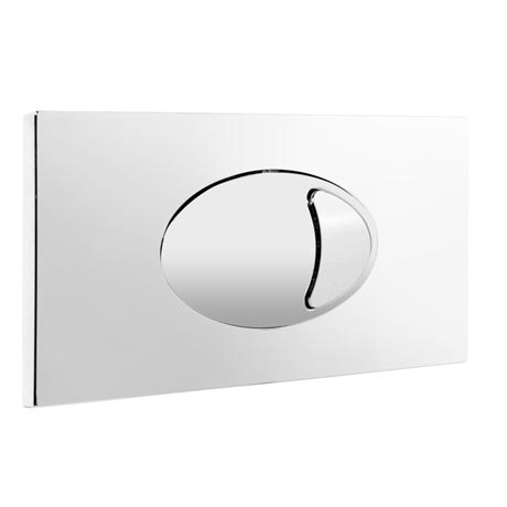 Large Chrome Push Button Plate