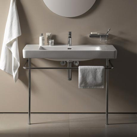Laufen Pro Basin with Chrome Stand - 1 Tap Hole