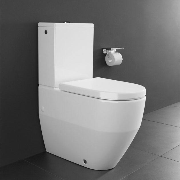Laufen Pro Close Coupled Toilet (Back to Wall - Rear Inlet) profile large image view 2