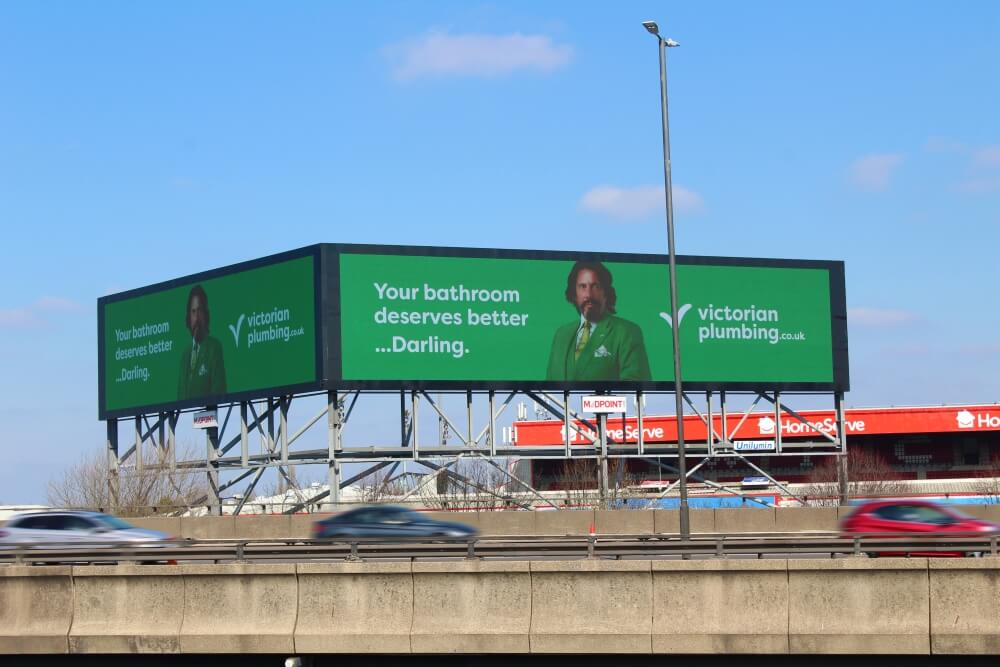 Our billboards featuring Laurence Llewelyn-Bowen | Victorian Plumbing