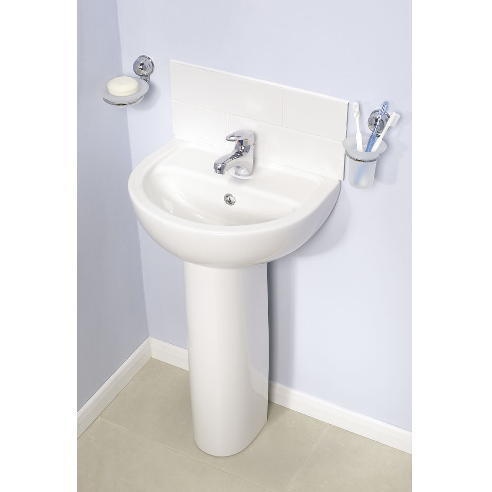 Vitra - Layton Basin and Pedestal - 1 Tap Hole - 3 Size Options Feature Large Image